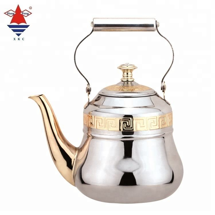 Chinese totem home decorative high quality tea kettle 0.75L 1.0L 1.5L stainless steel teapot