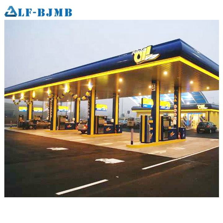 Inexpensive Steel Structure Space Frame Petrol Station Canopy