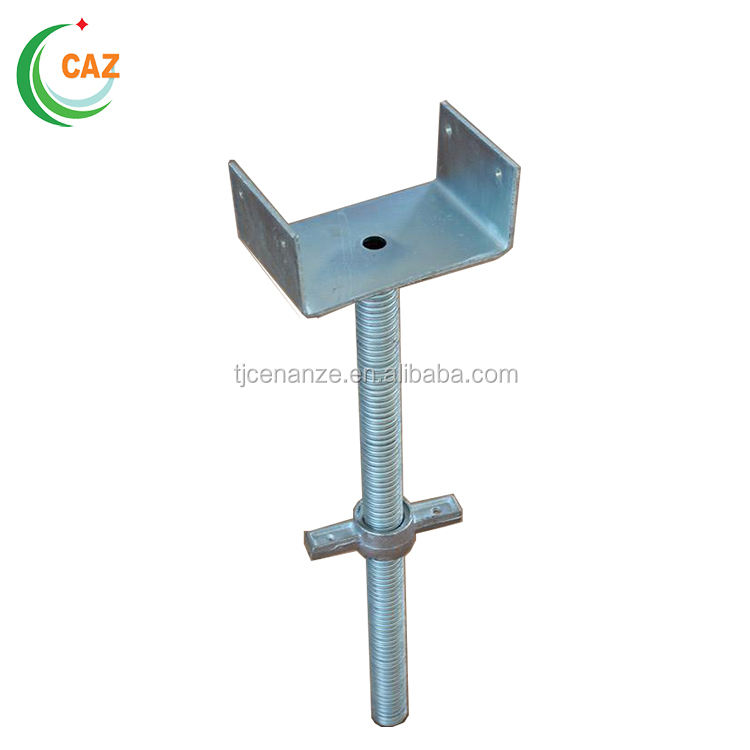 Scaffolding round steel U head jack for formwork