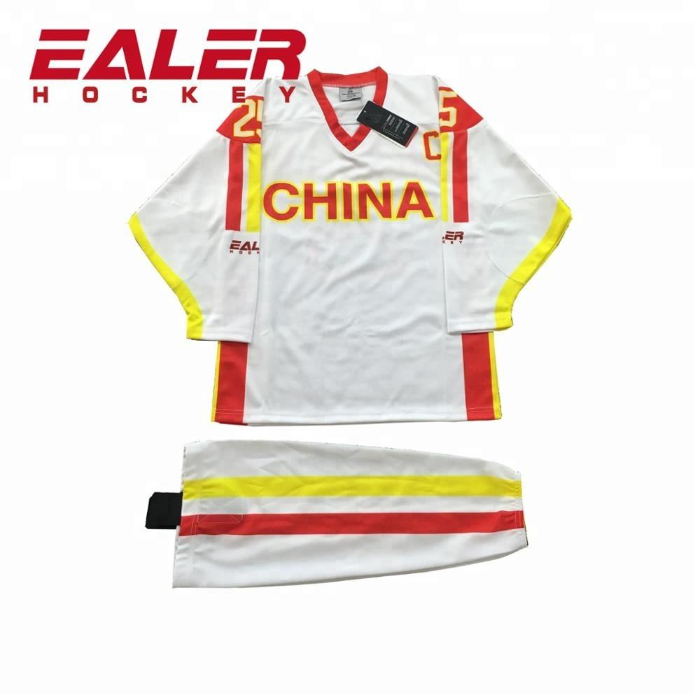 China Sublimation Custom Team Set Eis Hockey Jerseys Mit Ihrem Design