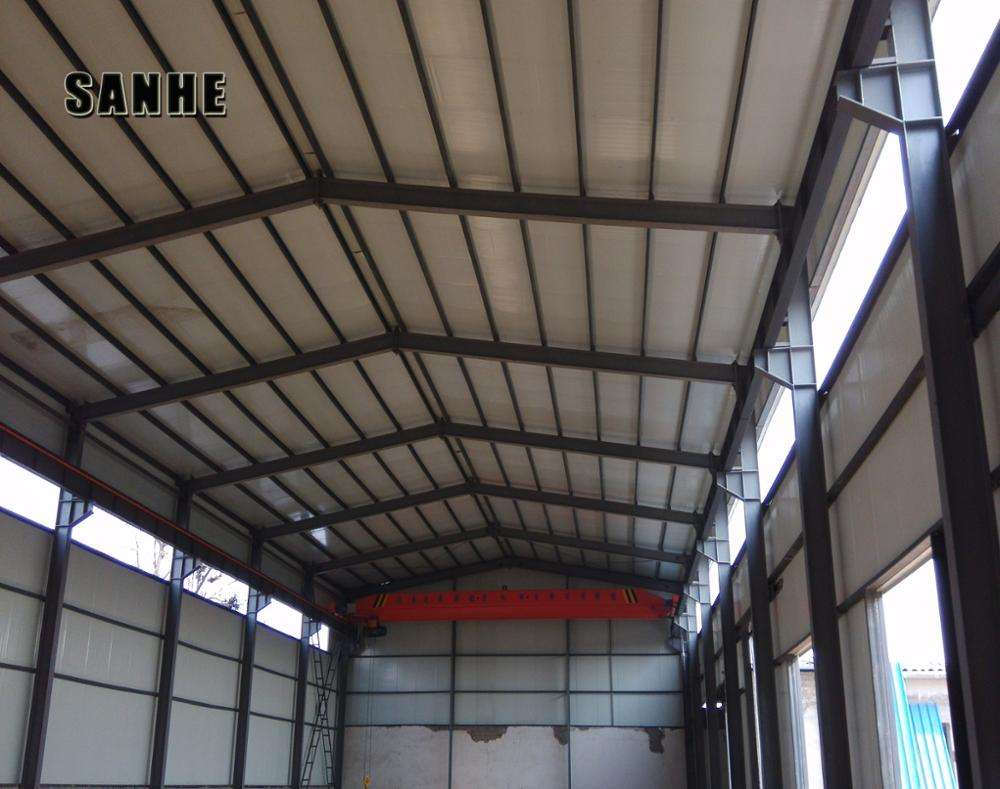 Long span framework structural steel prefabricated storage shed