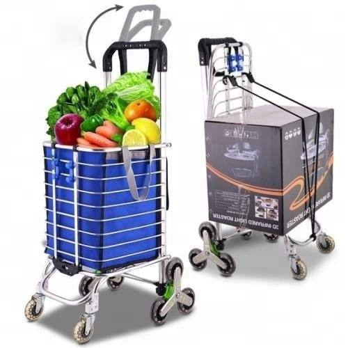 Aluminum grocery portable trolley folding shopping cart Food trolley cart
