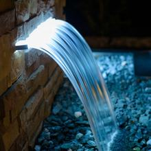 304 316 grade Artificial stainless steel waterfall landscape water curtain pool spa waterfall