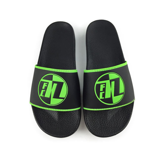 Greatshoe 2019 new product all black slide sandal pvc slipper chinese man hotel slipper customized with logo