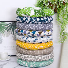High quality waterproof round cotton  linen texture cushion for sale