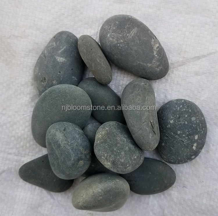 high quality landscape washed black river pebbles stone