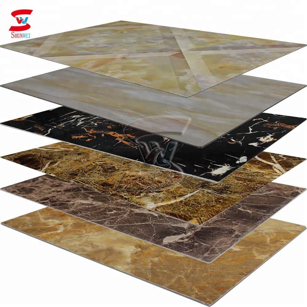 1220x2440mm 3mm pvc wall panel / pvc marble uv sheet price