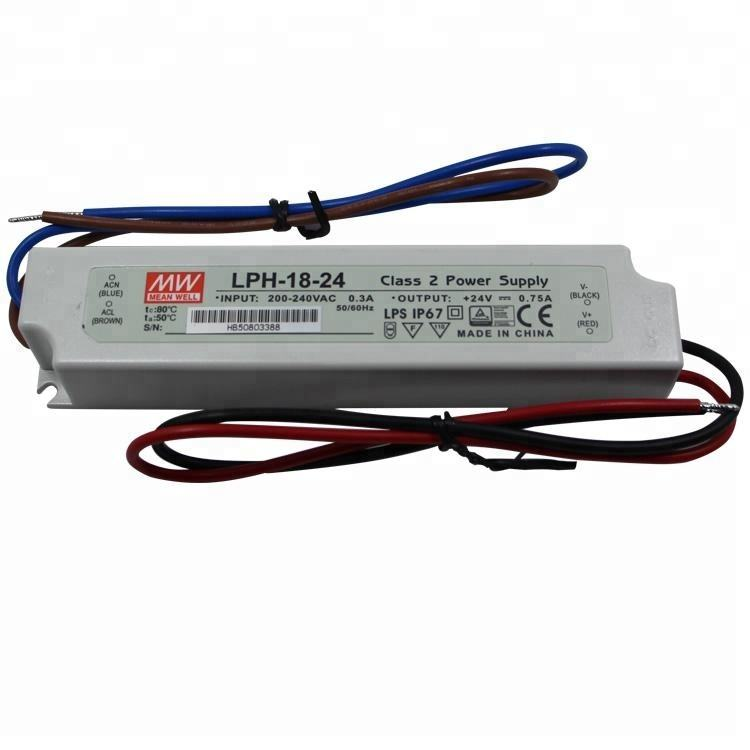 Meanwell LPH-18-24 24V 0.75A Plastic Case IP67 Waterproof Low Cost 18W LED Driver