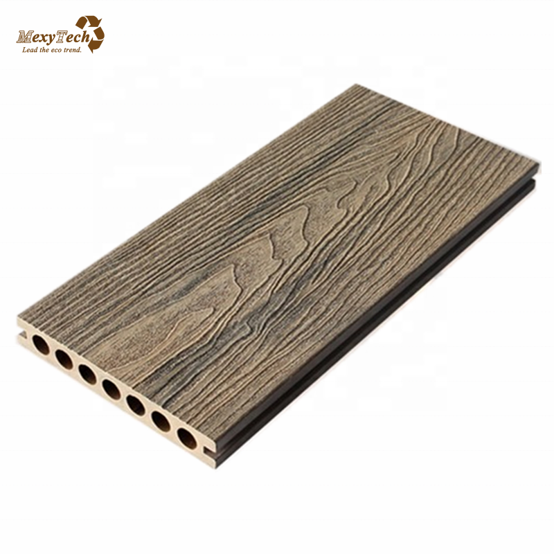 Foshan new product 3D embossed hollow waterproof outdoor decking