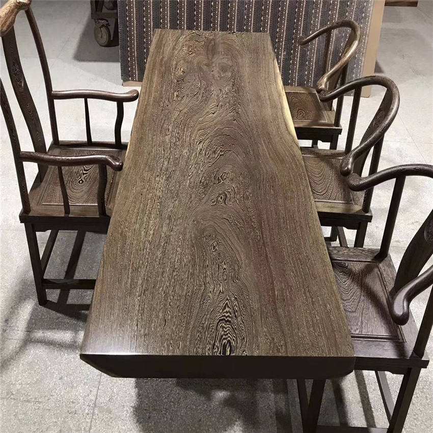 Live Edge Solid Weng Wooden Dining Table From Chinese Factory For Sale