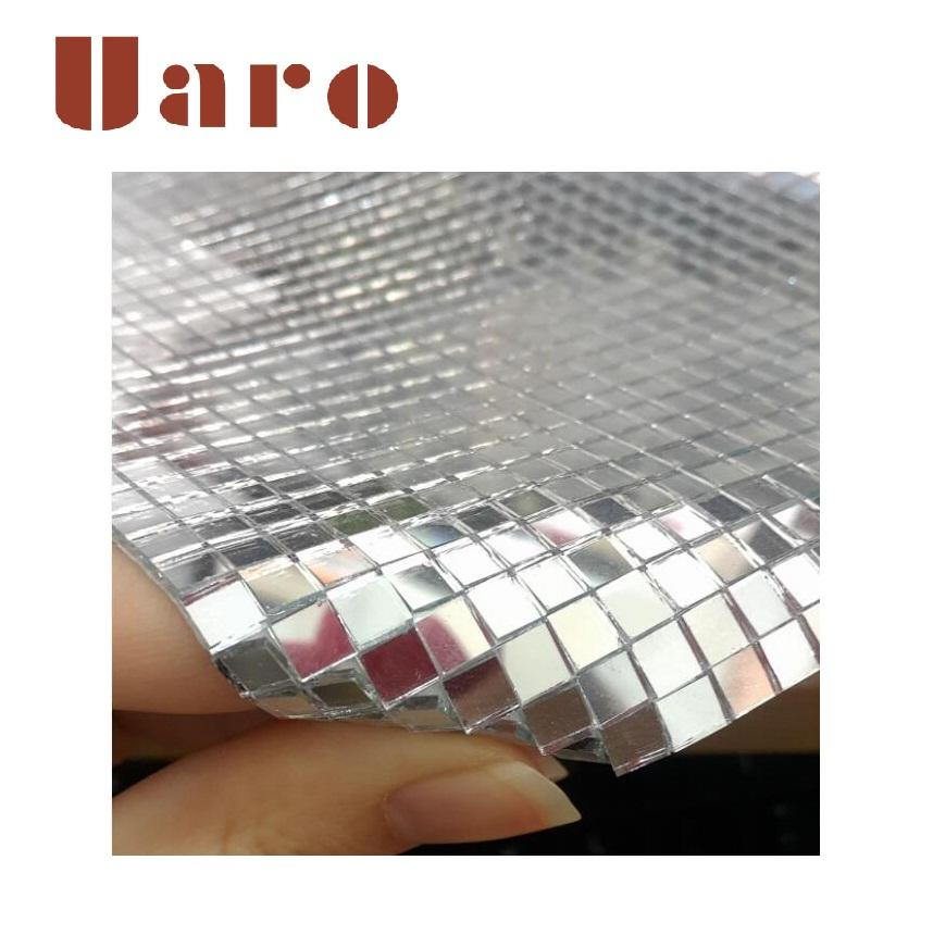Self-adhesive mirror glass mosaic mini mirror mosaic tile for craft kit