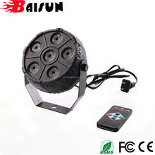 BaiSun Professional DJ Lights 6pcs RGB 3in1 LED Par Light Mini Par can for Night club