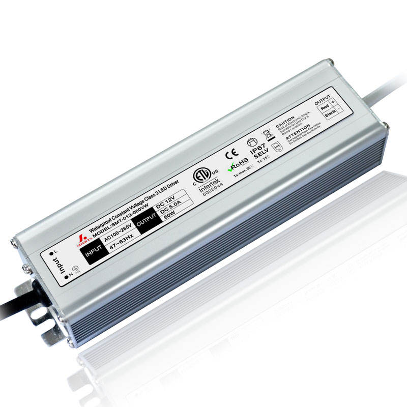 SMARTS POWER IP67 constant voltage 12v CV ETL waterproof led lighting power supply 20w 30w 36w 48w 60w