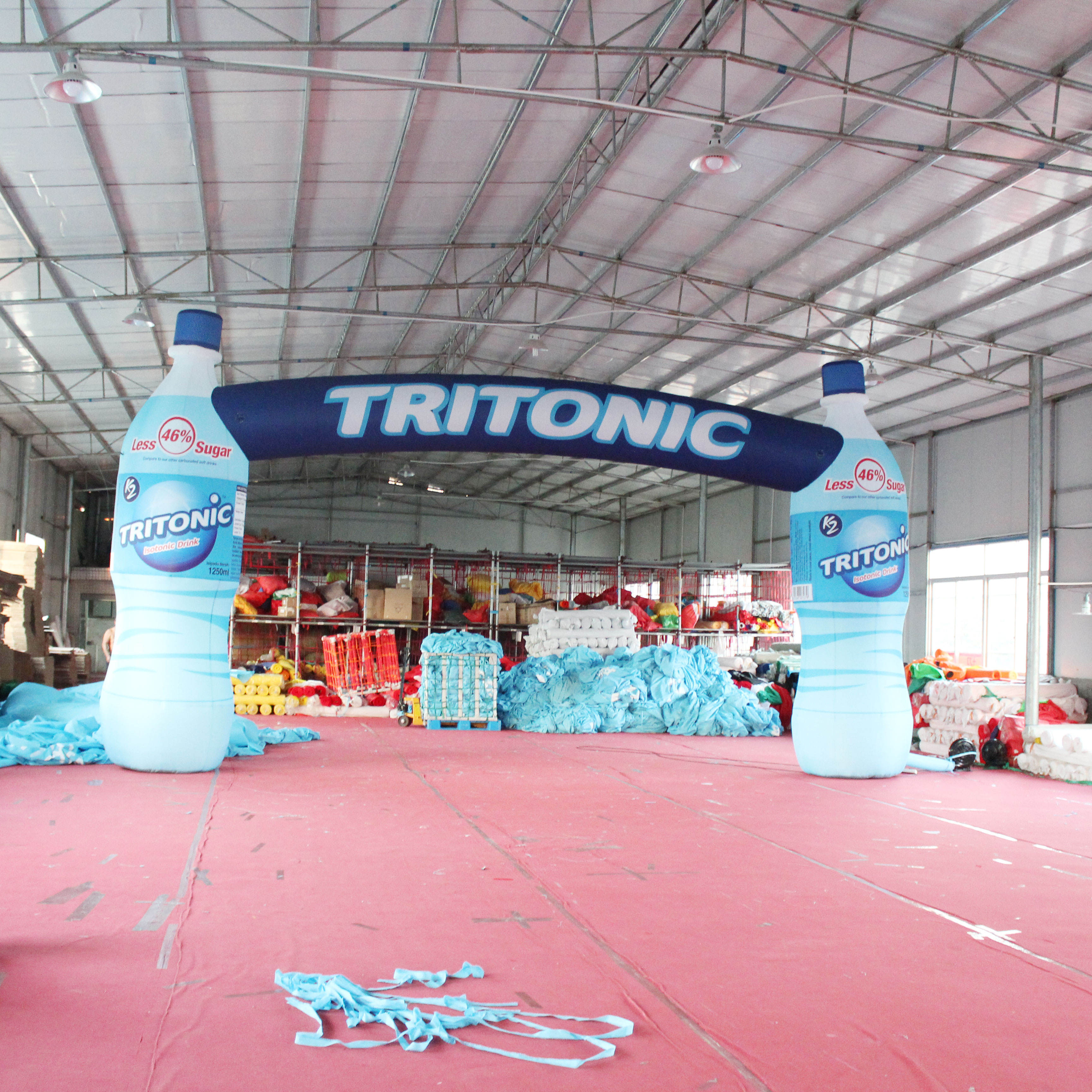 Custom 8m Coca Bottle Shape Air Inflatables, Inflatable Bottles Arches For Advertising