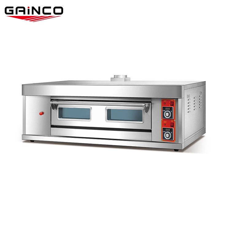 Commercial stainless steel one deck lpg gas pizza oven/oem pizza oven gas