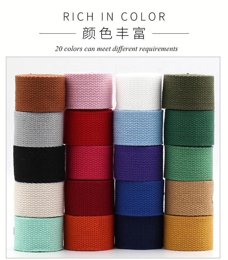 China manufacturer polypropylene cotton webbing cotton webbing 25mm
