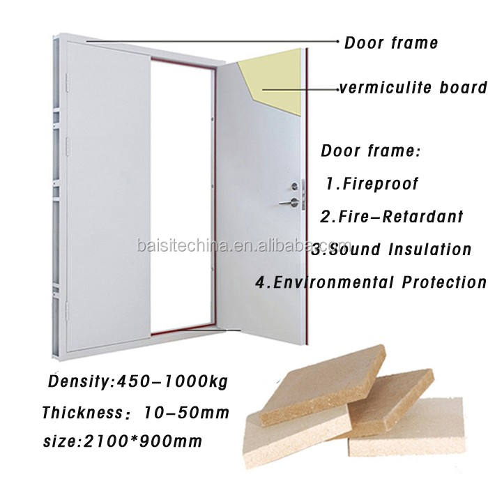 Vermiculite Board for fireproof fire door core
