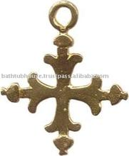 brass mexican cross pendant jewelry C502