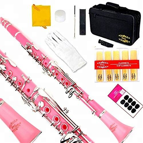 Big Manufacturer Quality Quck Lead Time 2 Years Warannty Silver Keys Pink Bb Clarinet