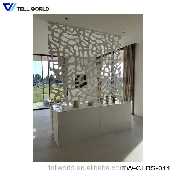 Italian style artificial marble stone office display counter for home table