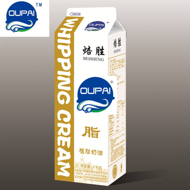Oupai whipping cream for cake topping &ice cream fillings