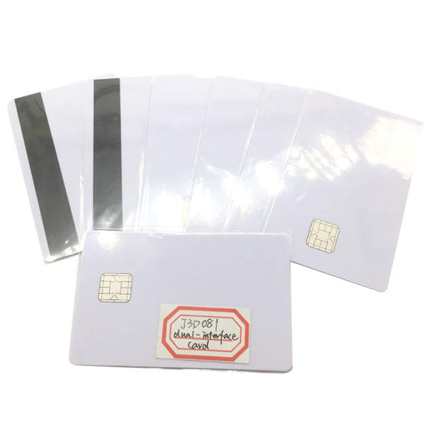 Dual interface J3D081 Java smart card with magnetic stripe