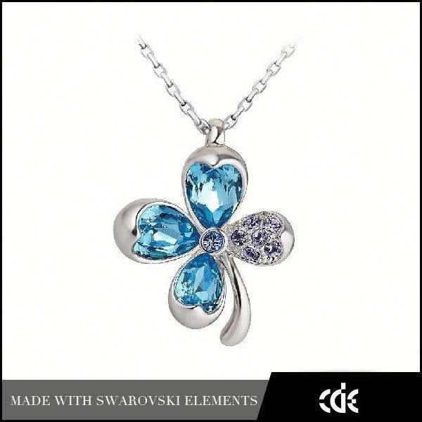 De <span class=keywords><strong>gros</strong></span> bijoux en cristal cde avenue quatre- clover leaf collier à pendentif