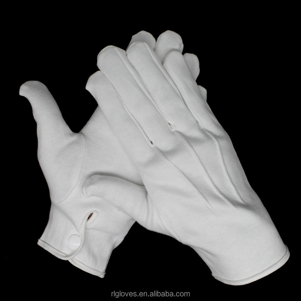 Men/'s White Formal Dress Gloves Tuxedo Band Marching Parade Stretch Nylon New