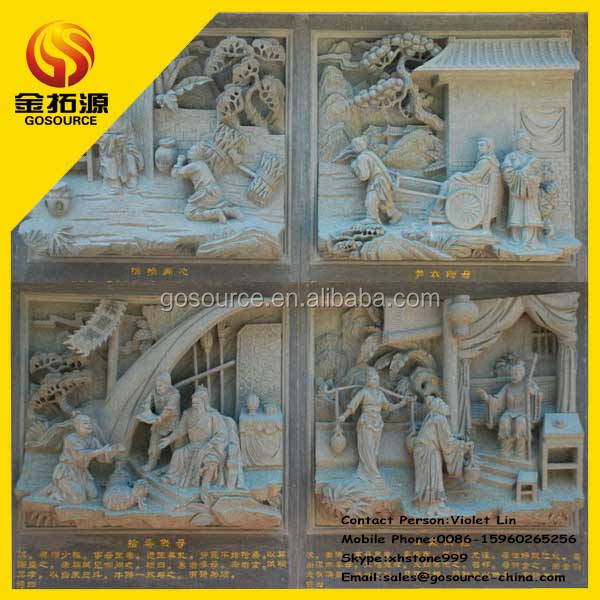 temple buddha wall relief sculpture stone