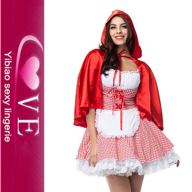 S-6XL Carnival Adult Little Red Riding Hood Ăn Mặc Trang Phục Cosplay