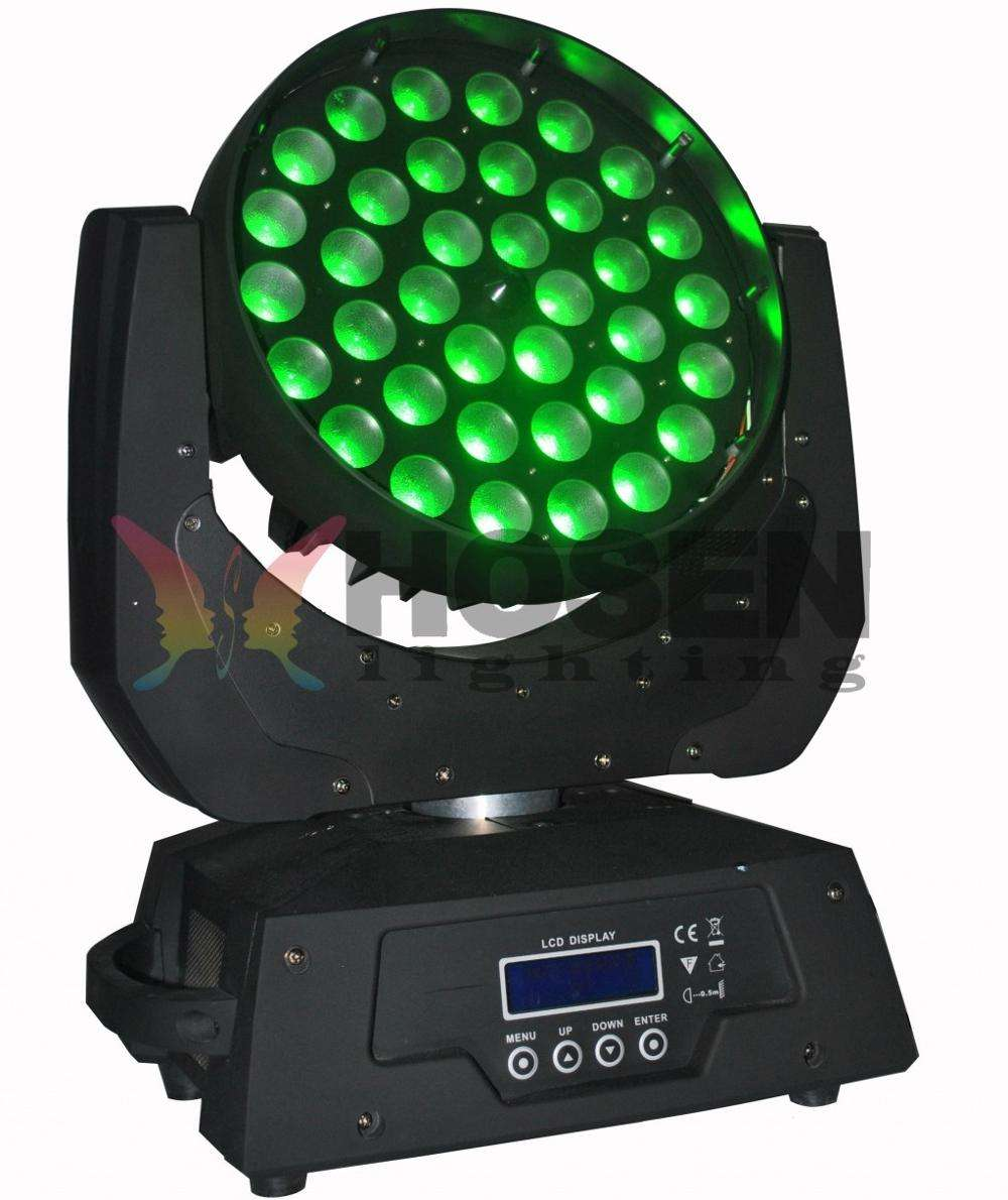 36pcs 18W RGBWAUV 6in1 Zoom LED Moving Head Wash light
