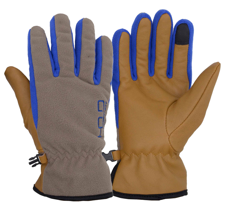 Mens Premium Goatskin Wholesale Thinsalate Touch Screen Fleece Winter Leather Gloves