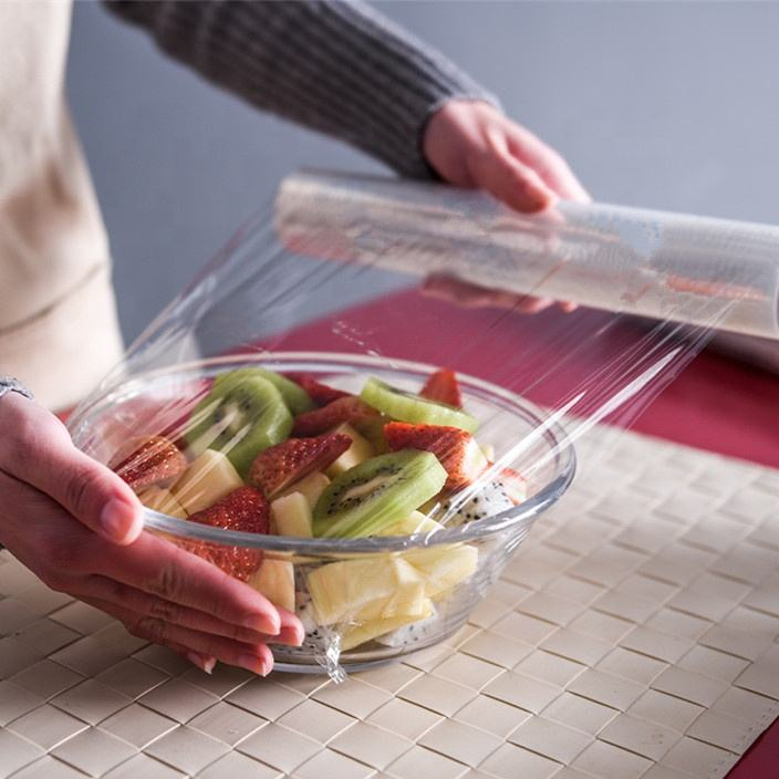 Clear LDPE compostable cling wrap film/food grade wrap/plastic stretch film for food grade