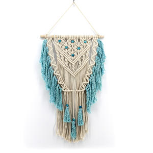 Custom Amazon hot sale Europe US home decor 100%hand made woven macrame wall hanging