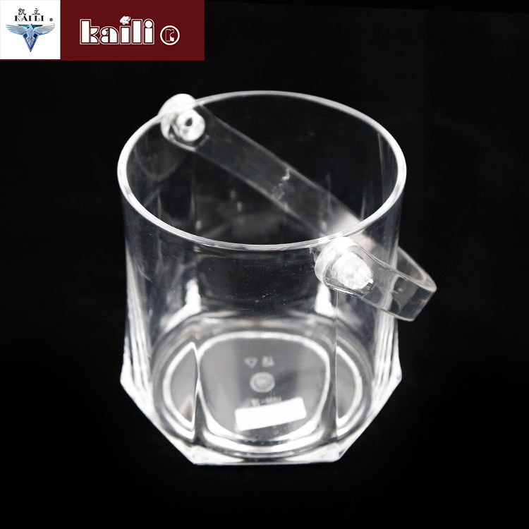 Top Quality Transparent Insulated Plastic Ice Bucket With Handle