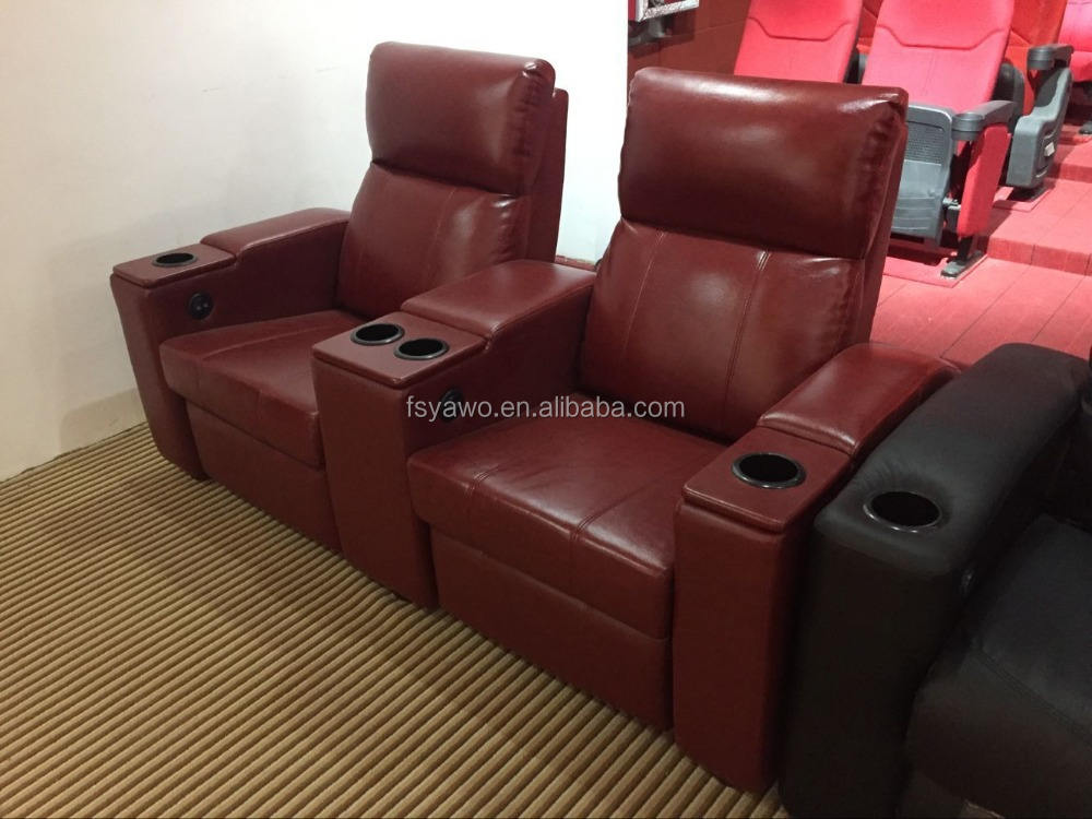 Salon leather cinema home used furniture 5d VIP recliner cinema chair (YA-605S)