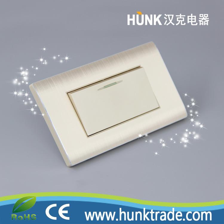 Material de Aluminio UL estándar Americano grande 1 1way pandillas interruptor de pared de luz