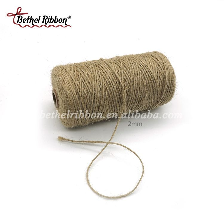 2mm 3mm 4mm 5mm 6mm 8mm jute rope for gift box package
