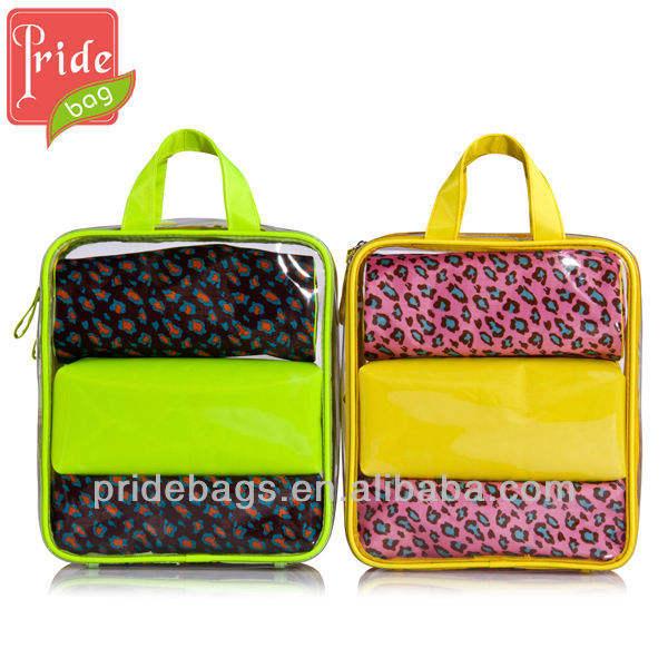 moda 2013 tren pvc bolsa de cosméticos
