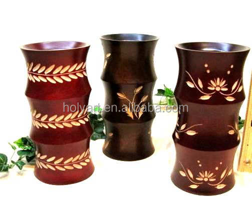 hot sale high quality mango wood vases