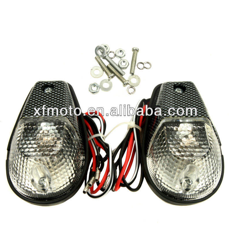 Motorcycle E-Marked Euro Clear 10 LED Taillight Running Brake Stop Tail Lamp Hot