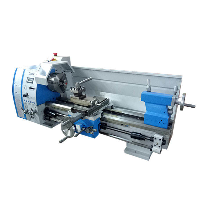 D300V 300mm swing over bed mini manual bench lathe with variable speed in China