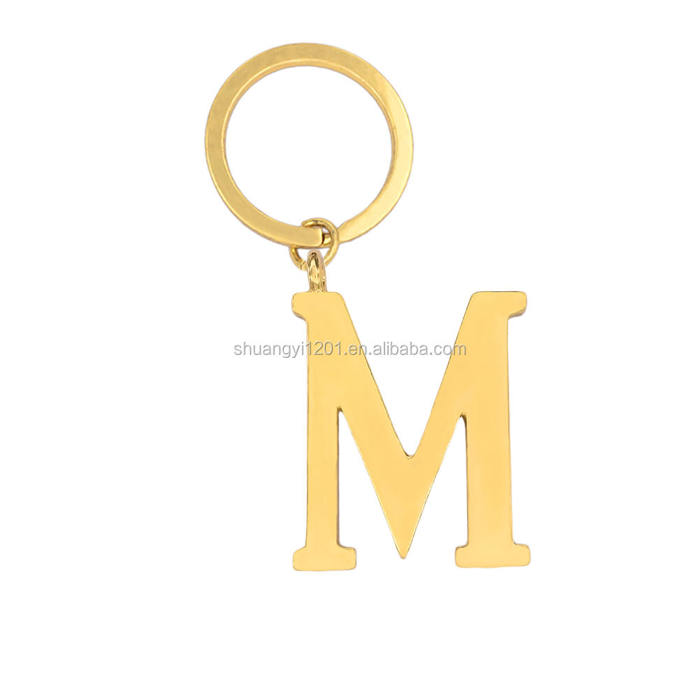 Fashion Car keychains Wholesale Metal Letter M Keychains & Keyholders