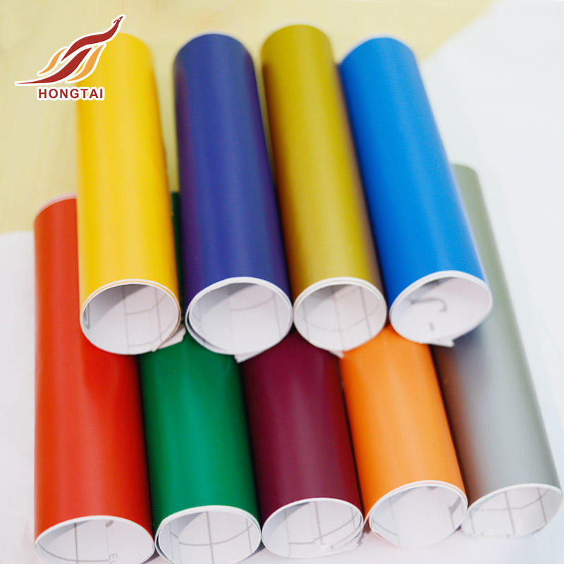 High quality different S/A vinyl advertising material color cutting vinyl for cutting plotter