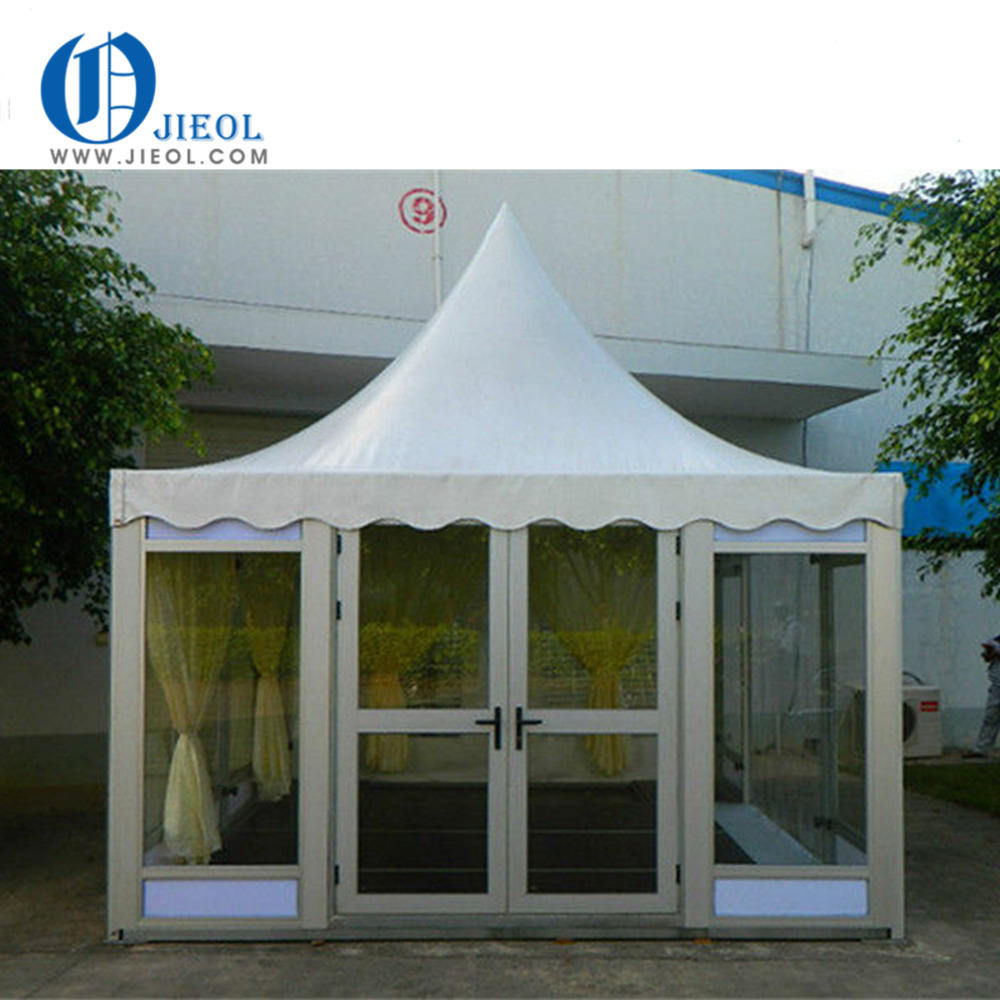 Guangzhou wholesale pagoda tent 3x3, 4x4, 5x5, 6x6, 10x10 for events/high peak canopy tent