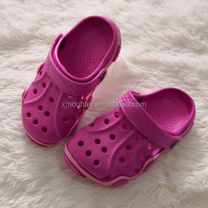 Hot Cakes Two Color Plastic Eva Kids Clogs Sandals Slippers ,Wholesale Cute Kids EVA Cologs ,Cheap Garden Shoes