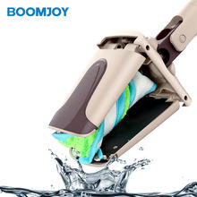 Boomjoy F4 wholesale mop 2019 new products quality control Hand free twist mop telescopic handle magic 360 mop