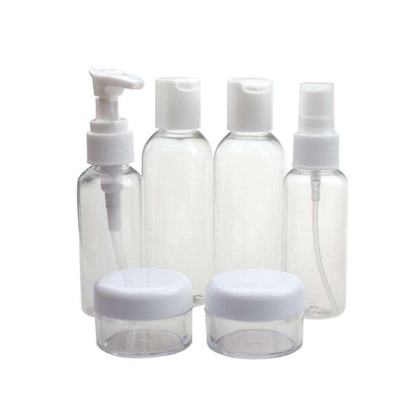 Set Draagbare Vlucht Travel Size Fles Pack Vloeistof Containers Shampoo Crème Cosmetica Refiable Flessen Drop Shipping
