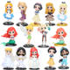 High quality Cute Princess mermaid bella elsa Action figure toy for kid gif