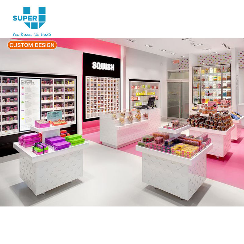 Zoete Voedsel Retail Display Showcase Gift Store Candy Winkel Interieur